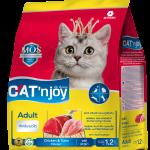 Cat'n Joy Adult Chicken & Tuna แคท เอ็น จอย แมวโต สูตรไก่และทูน่า 1.5 KG x 2 ถุง