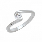 แหวนอัลลอยด์หุ้มทองคำขาวแท้