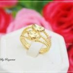 แหวนหุ้มหนาด้วยทองคำแท้ รหัส INJ246