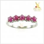 แหวนทับทิมพม่า สีชมพูหวานๆ