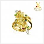 แหวนนพเก้า ทองแท้ ใบมะกอก สอบถามได้จ้าาา