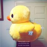 ตุ๊กตาเป็ดเหลือง ขนยาวนุ่มสุดๆ 70Cm นำเข้าฯของแท้ลิขสิทธิ์