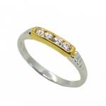 แหวนอัลลอยด์หุ้มทองคำแท้และทองคำขาวแท้