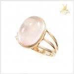 แหวนโรสควอตซ์แท้ เพิ่มเสน่ห์ สีชมพูหวานๆ
