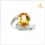 แหวนซิทรินแท้ สวยใส ใส่ติดนิ้ว