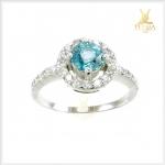 แหวนเพทายแท้ สวยใสดั่งน้ำทะเล ใส่ติดนิ้วน่ารักๆ ค่ะ