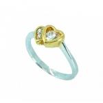 แหวนอัลลอยด์หุ้มทองคำขาวแท้ และ ทองคำแท้