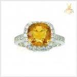 แหวนซิทรินแท้ สีเหลืองทอง ใส่เสริมเพิ่มเสน่ห์บนนิ้วทุกๆ วัน