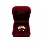 แหวนทับทิมประดับเพชร ตัวเรือนอัลลอยด์หุ้มทองคำแท้