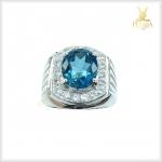 แหวนลอนดอนบลูโทแพซ สวยใสไฟดี