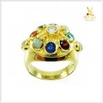 แหวนนพเก้า ตามตำราโบราณ ทองแท้ เพชรแท้ (สอบถามราคา)