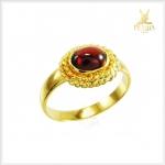แหวนพลอยโกเมนแท้ ทองแท้90 เพิ่มความมั่นใจ(สามารถสั่งทำได้ค่ะ)
