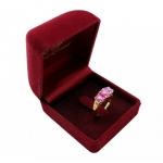 แหวนทับทิมแท้ ตัวเรือนอัลลอยด์หุ้มทองคำแท้