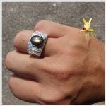 แหวน Black Star Sapphire ขาสวยคมชัด