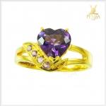 แหวนอเมทิสต์แท้ แหวนพลอยอเมทิสต์สวยๆ (สามารถสั่งทำได้ค่ะ)
