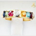 แหวนพลอยนพเก้า ทองแท้ เพชรแท้ (สามารถสั่งทำได้ค่ะ)