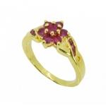 แหวนพลอย อัลลอยด์หุ้มทองคำแท้