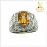 แหวนซิทรินแท้ เหลืองใสสด สร้างความมั่นใจ