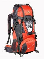 NL13 กระเป๋าเดินทาง สีส้ม ขนาด 55+5 ลิตร (เสริมโครง)