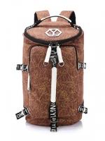 TR02 กระเป๋าทรงกระบอก แคนวาส สีน้ำตาล