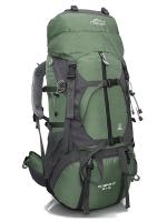 DF05 กระเป๋าเดินทางเสริมโครง สีเขียวทหาร ขนาดจุสัมภาระ 55+10 ลิตร