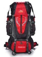 NL10 กระเป๋าเดินทาง สีแดง ขนาด 80+5 ลิตร (เสริมโครง)