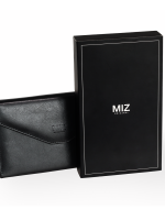 RFID Passport Holder Wallet (ฺBlack) กระเป๋าพาสปอร์ตพร้อมกล่องพรีเมี่ยม สีดำ