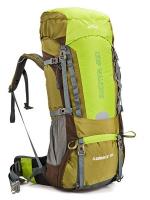 DF02 กระเป๋าเดินทาง AONIJIE สีเขียว ขนาดจุสัมภาระ 70+5 ลิตร (เสริมโครง)