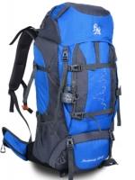 DF03 กระเป๋าเดินทาง สีน้ำเงิน ขนาดจุสัมภาระ 80+5 ลิตร