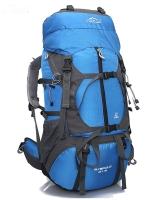 ⭐ DF05 กระเป๋าเดินทางเสริมโครง สีน้ำเงิน ขนาดจุสัมภาระ 55+10 ลิตร