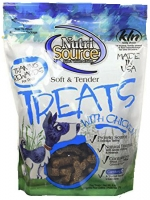 NUTRISOURCE SOFT&TENDER TREATS - WITH CHICKEN นูทริซอส ซอฟท์ & เทนเดอร์ ขนมสำหรับฝึกสุนัข สูตร ไก่ เนื้อนุ่ม