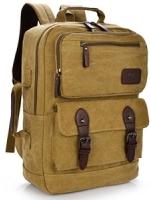 VT07- Khaki กระเป๋าเป้แคนวาส กระเป๋าผู้ชาย สีกากี