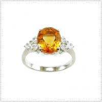 แหวนพลอยซิทริน (อัญมณีประจำเดือน พฤศจิกายน)