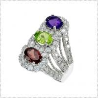 แหวนพลอย 3 สี