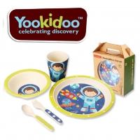 Yookidoo อุปกรณ์รับประทานอาหารปลอดสารพิษสำหรับลูกน้อย