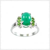 แหวนพลอยโมรา (GREEN AGATE)