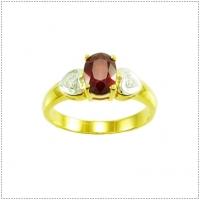 แหวนพลอยทับทิม (อัญมณีประจำเดือน กรกฏาคม)