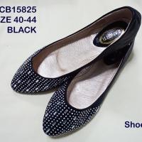 รองเท้าไซส์ใหญ่คัทชู ส้นแฟลท CCB15825 black
