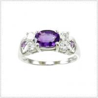 แหวนพลอยอเมทิสต์ (อัญมณีประจำเดือน กุมภาพันธ์)