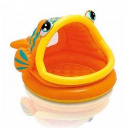 สระน้ำเป่าลมสำหรับทารกและเด็กเล็ก Intex Lazy Fish Baby Pool