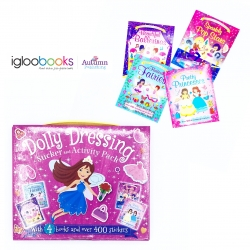 กระเป๋าหนังสือกิจกรรมสติ๊กเกอร์ Dolly Dressing Sticker and Activity Pack