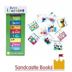 ชุดหนังสือเสริมทักษะสำหรับลูกน้อย Book Tower 10 Chunky Books - First Learning