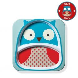 จานอาหารแบ่ง 2 ช่องสำหรับเด็ก Skip Hop รุ่น Zoo Plate (Owl)