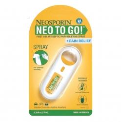 สเปรย์กำจัดเชื้อโรคและบรรเทาอาการปวดสำหรับบาดแผล Johnson & Johnson NEOSPORIN NEO To Go + Pain Relief