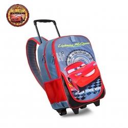 กระเป๋าสะพายพร้อมมือจับและล้อลาก Disney Rolling Backpack (Cars Lightning McQueen)