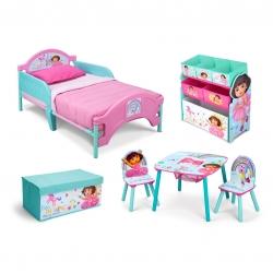 ชุดเฟอร์นิเจอร์ห้องนอนสำหรับลูกน้อย Delta Children Room-in-a-Box (Dora the Explorer)