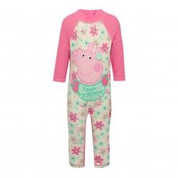 ชุดว่ายน้ำป้องกันรังสียูวีสำหรับเด็ก M&Co Peppa Pig Sunsafe Swimsuit (Floral Pink)