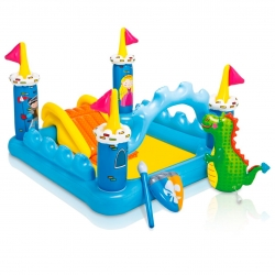 สระน้ำเป่าลมพร้อมสไลเดอร์และน้ำพุ Intex Fantasy Castle Play Center