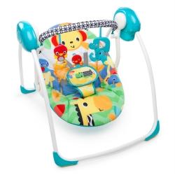 เปลไกวสวิงอัตโนมัติ Bright Starts Safari Smiles Portable Swing