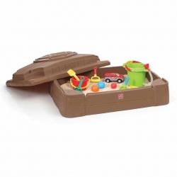 กล่องเก็บทรายพร้อมฝาปิด Step2 Play & Store Sandbox